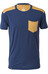 Mons Royale M's PK Pocket T-Shirt Navy/Desert